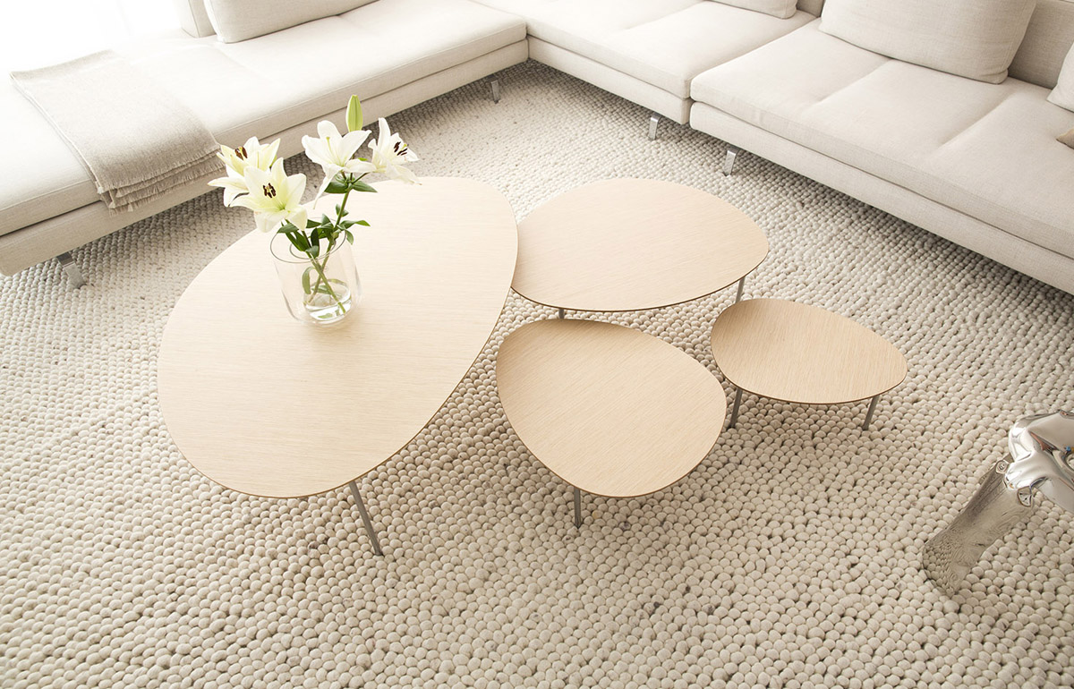 House In Barcelona By Home Vice Set Of 4 Eclipse Nesting Tables Oak