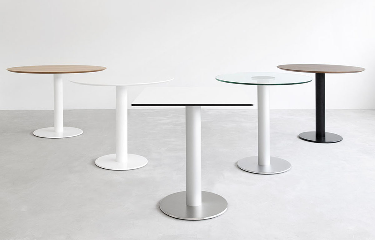 zero table with central column options design jesus gasca