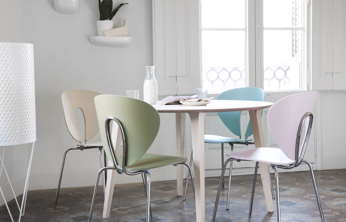 Globus Chairs In Colouricious Colours Around Lau Table In Ash
