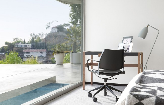 Home office chair in black office