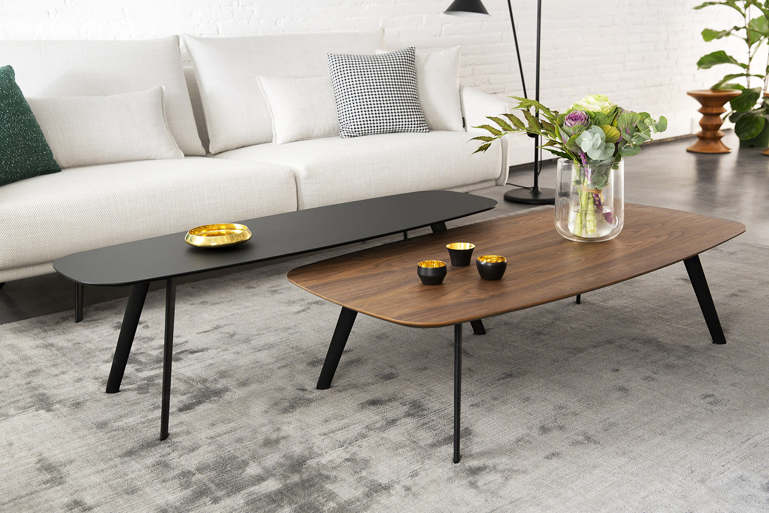 All The Solapa Table Options White Black Oak And Walnut
