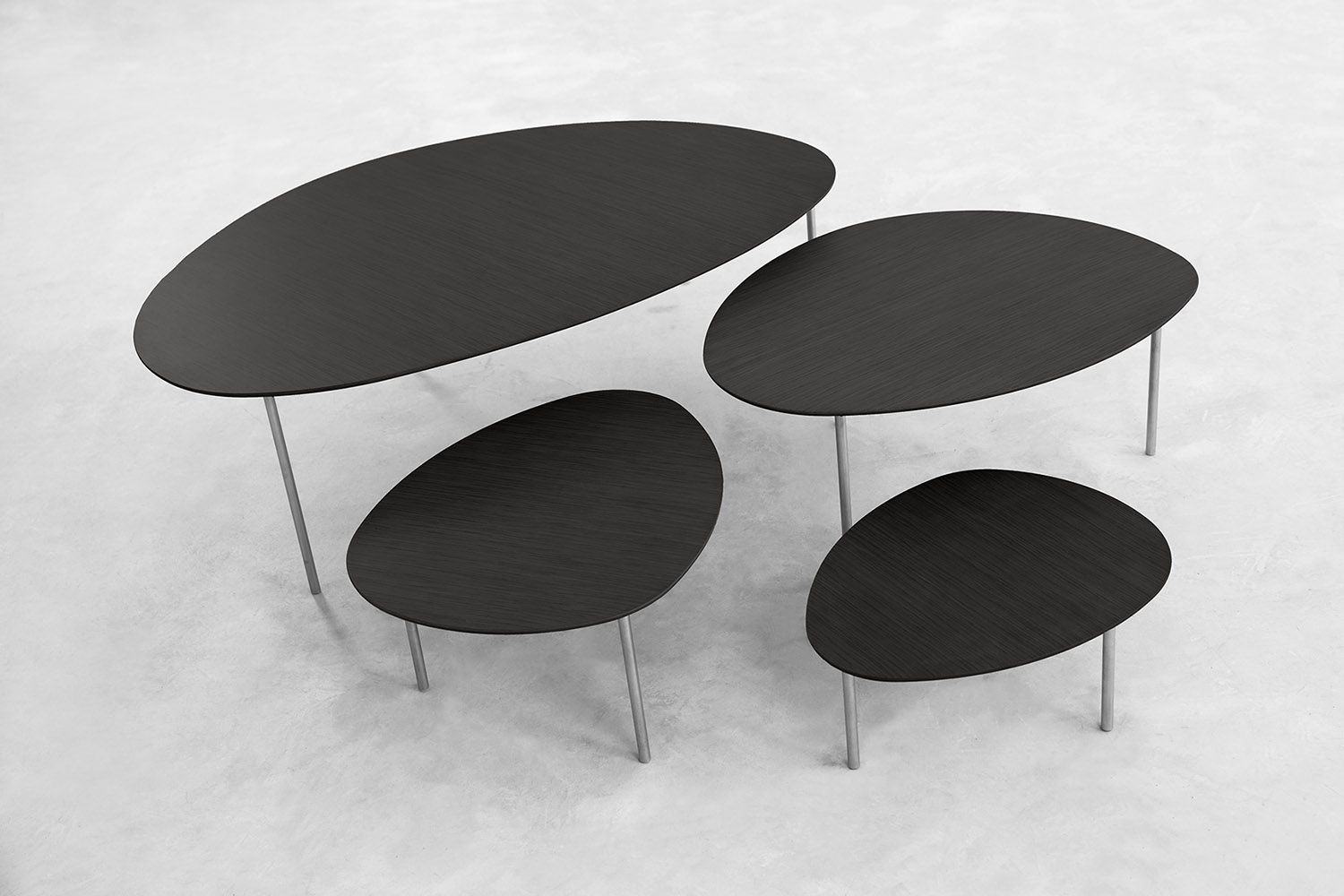 STUA Eclipse nesting tables with organic shapes