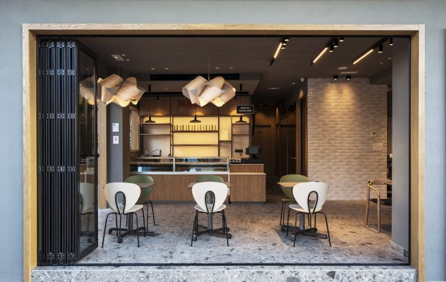 El Mimbre bakery in Malaga by Licua design, with STUA Globus chairs.